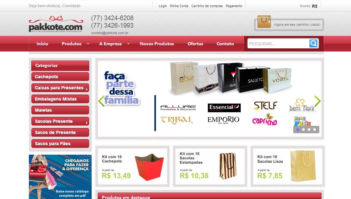 Pakkote.com.br – Embalagens e Sacolas Personalizadas