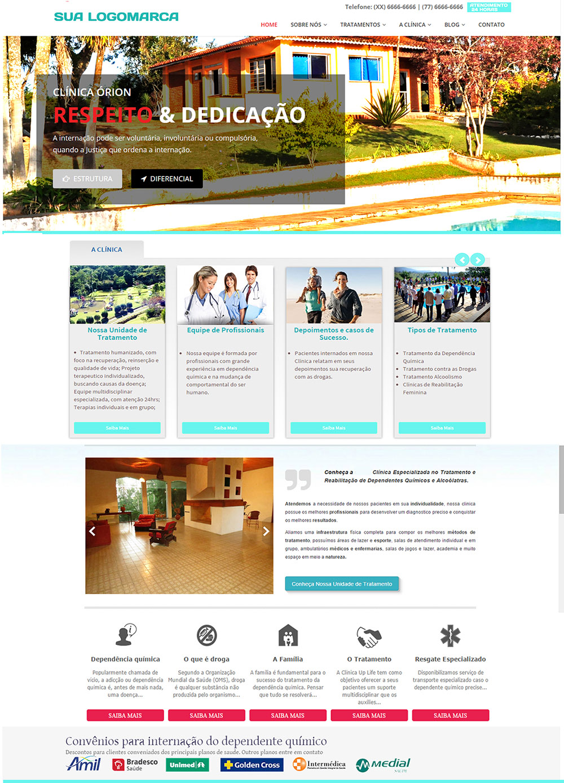 Site Modelo Clínica de Saúde 002