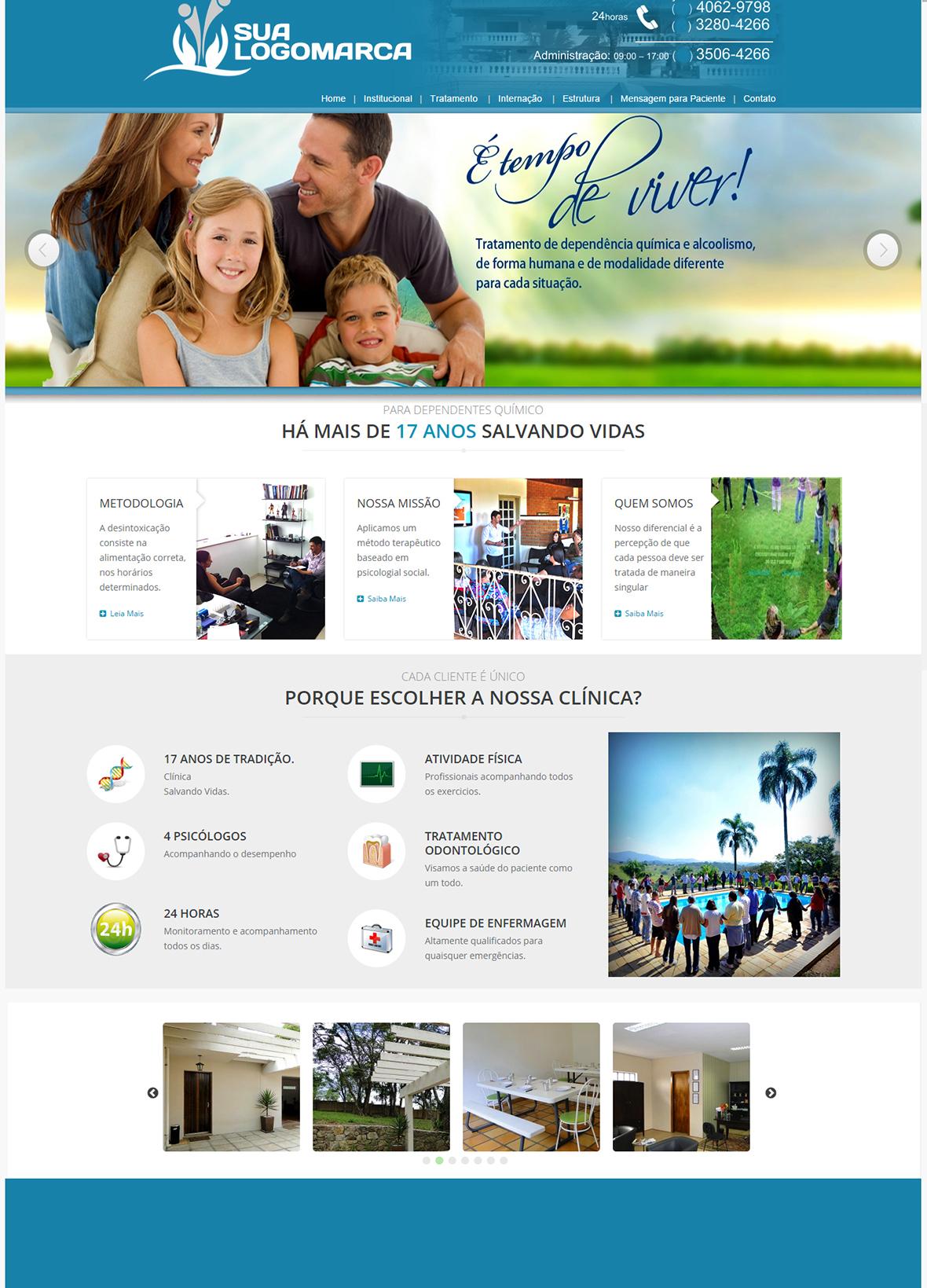 Site Modelo Clínica de Saúde 001