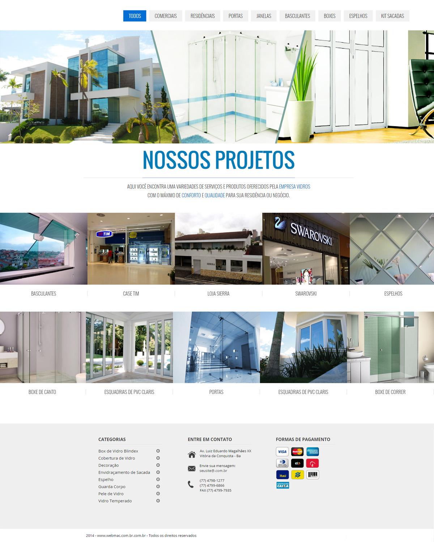 Website para Vidraçaria 001