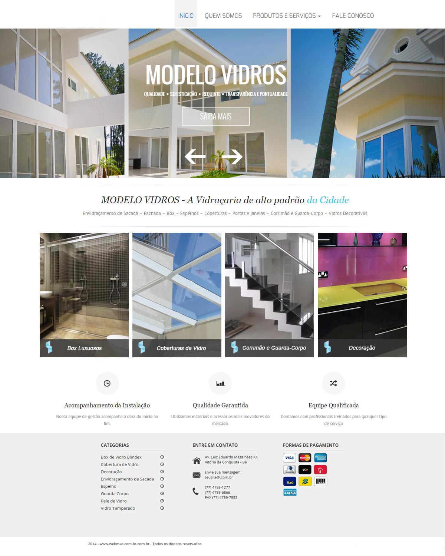 Website para Vidraçaria 002