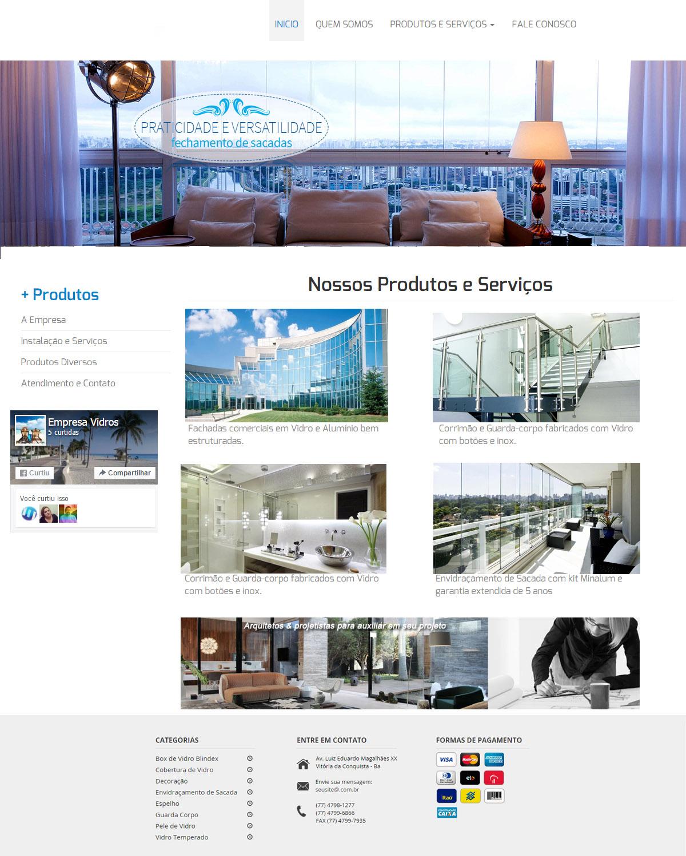Website para Vidraçaria 003