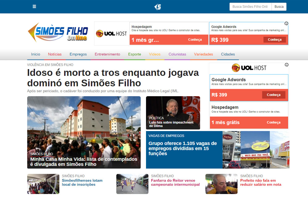 Simões Filho Online – Site de Notícias