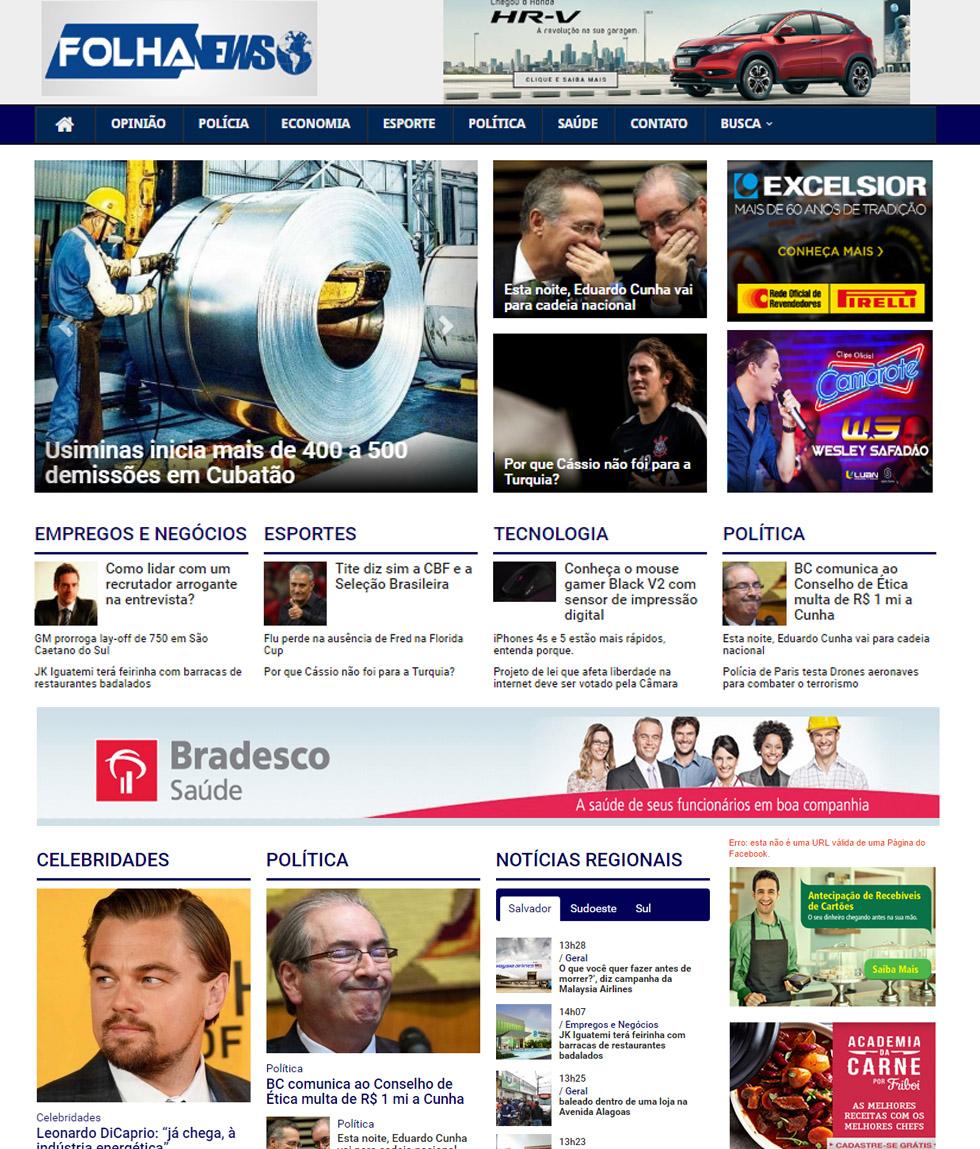 Modelo Site Folha News