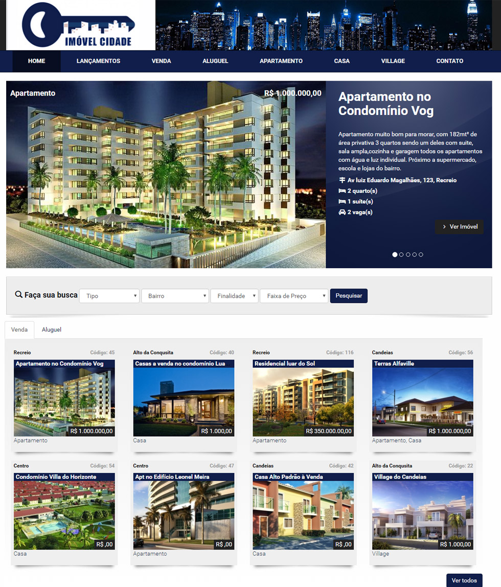 Website para Imobiliaria