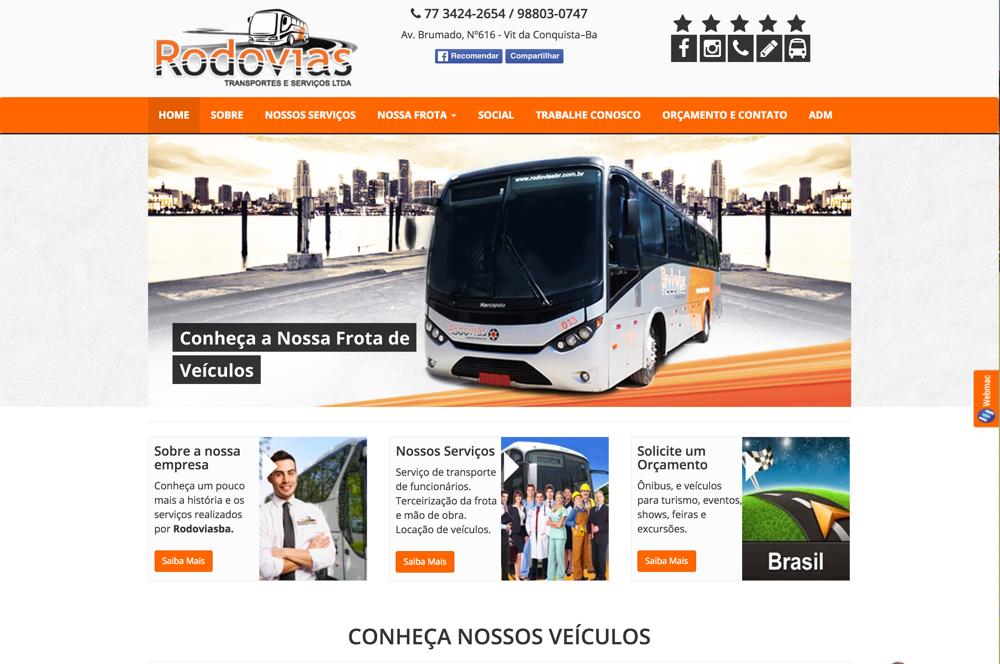 Rodovias BA – Site Transportadora