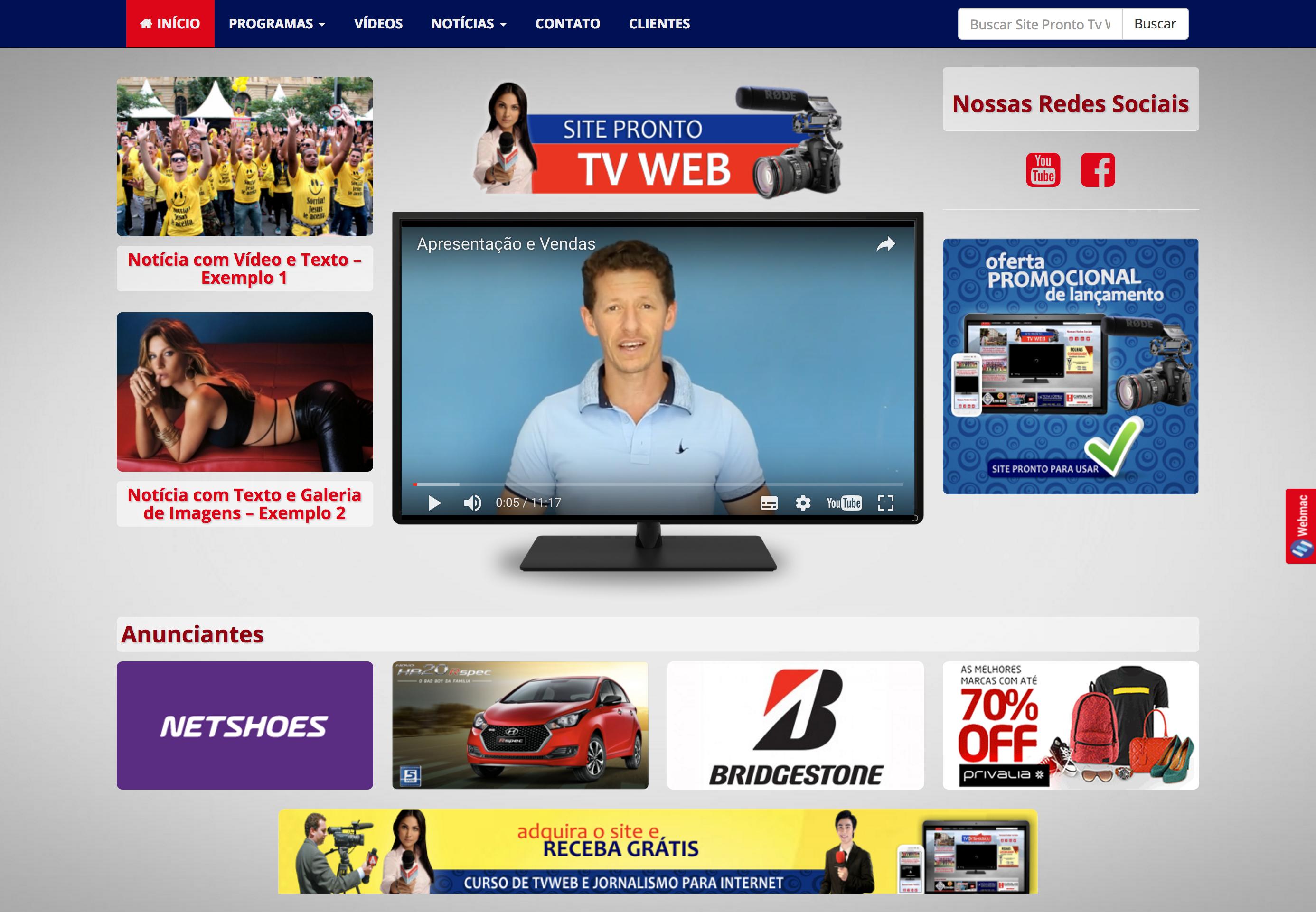 Modelo Site Canal de TV
