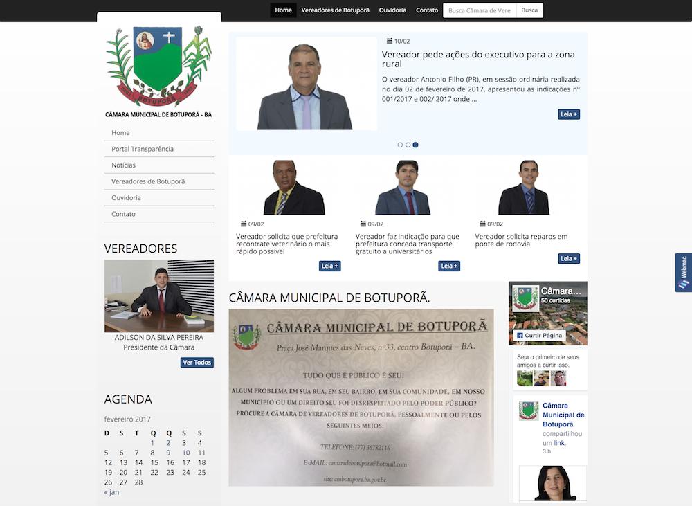 Site Modelo Legislativo